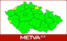 Aktuální výstrahy před nepříznivým počasím v Česku